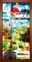 abstract style stained glass window