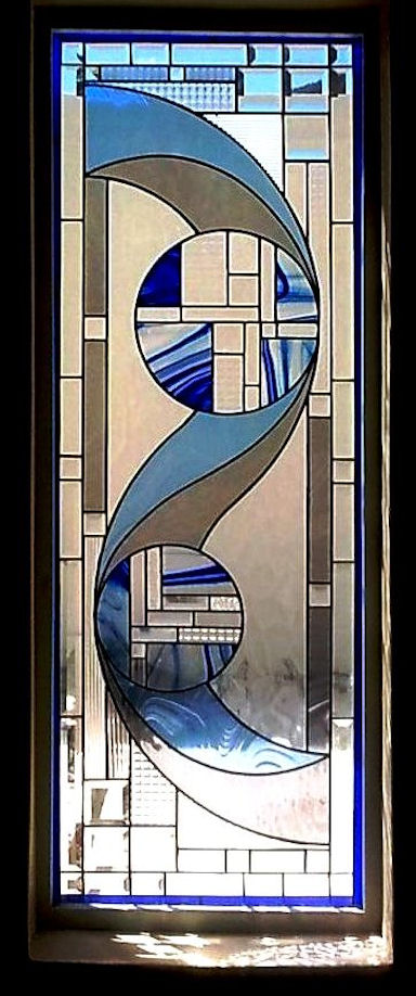 Art Deco Stained Glass Panels Version 1
