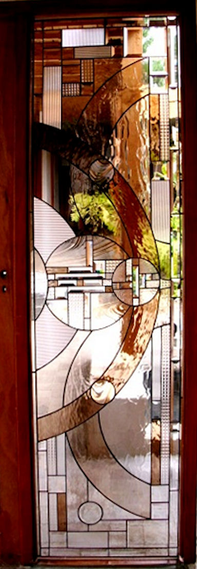 Art Deco Stained Glass Panels Version 3