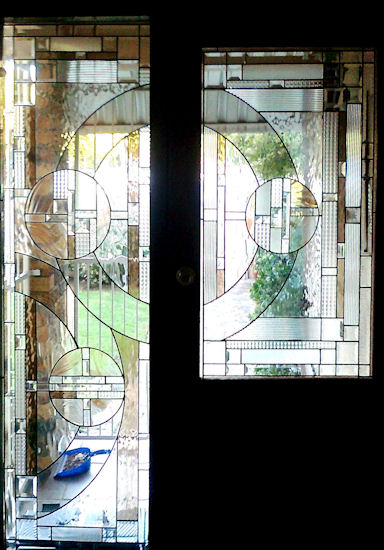 Art Deco Stained Glass Panels Version 5