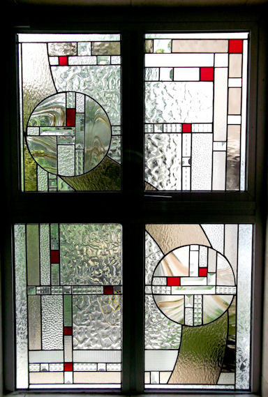 Art Deco Stained Glass Panels Version 7