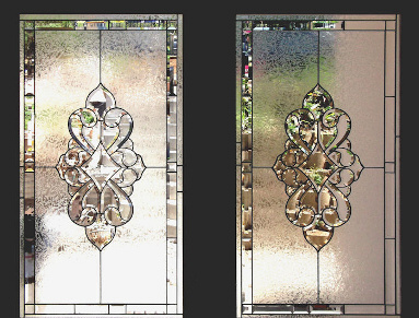 Bevelled Stained Glass Panel Version 7