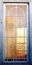 bevelled style stained glass window
