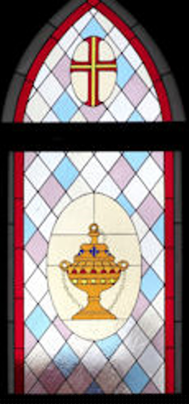 Church Stained Glass Panel Version 1