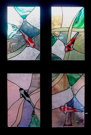 Contemporary Stained Glass Panels Version 2