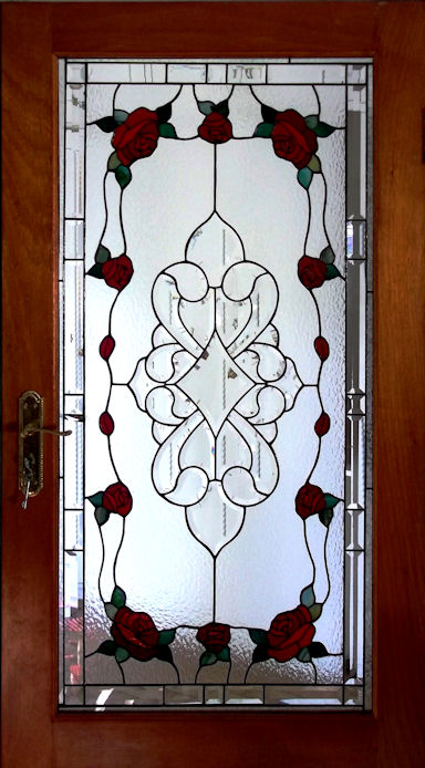 Floral Roses Stained Glass Panels Version 1