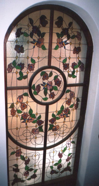 Floral Stained Glass Panels Version 1