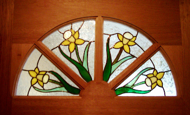 Floral Stained Glass Panels Version 5