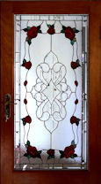 floral style stained glass window