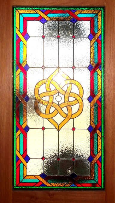 Geometric Stained Glass Panels Version 8