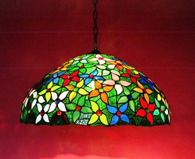 Large Flower Mould Stained Glass Lamp