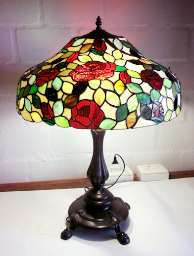 Rose Mould Stained Glass Lamp