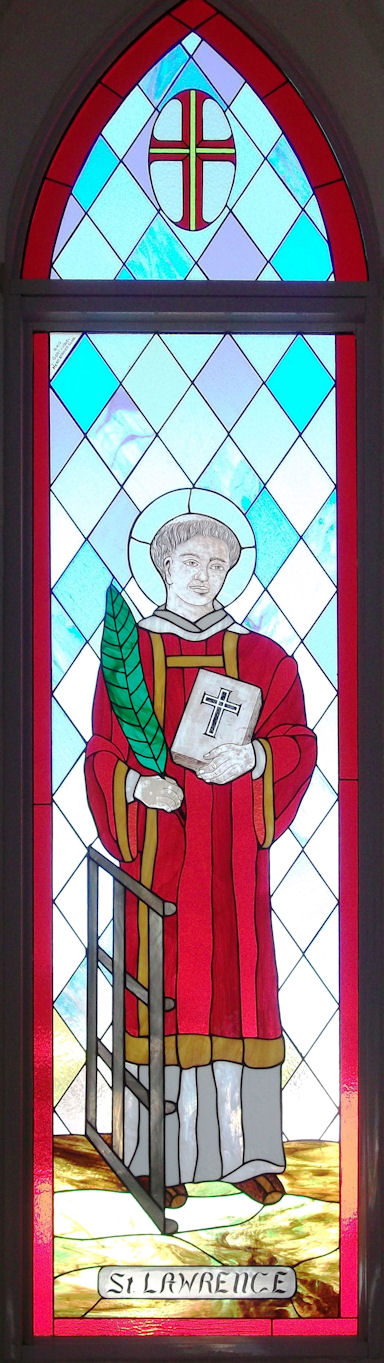 St Lawrence Stained Glass Panel