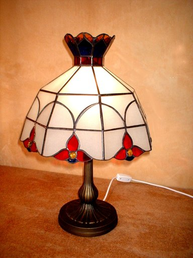 SGCATHB-100 Stained Glass Table Lamp