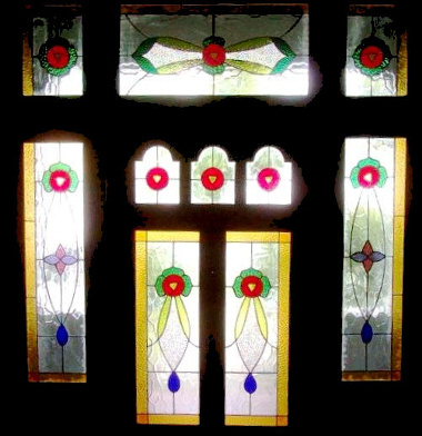Victorian Stained Glass Panels Version 10